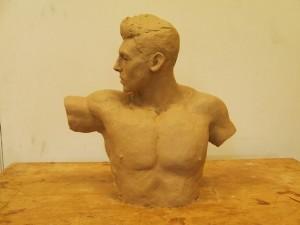 Half-life size bust in progress