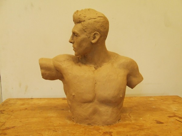 Half-life size bust in progress