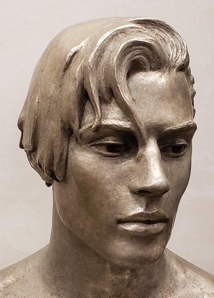 Tyler (detail) in bronze with silver nitrate patina