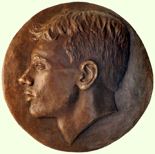 Jeremy Shelton - Portrait medal - Bronze