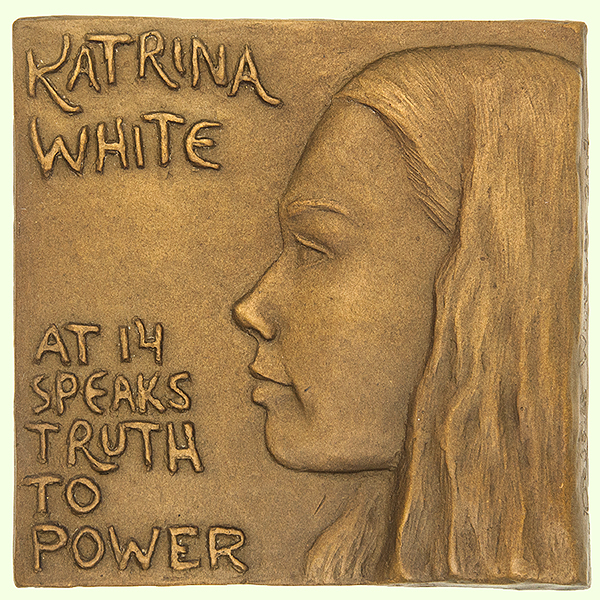 Katrina White at 14 Speaks Truth to Power — exhibited at FIDEM/International Art Medal Federation's 35th Congress in Ottawa at the Canadian Museum of Nature (June 2018)